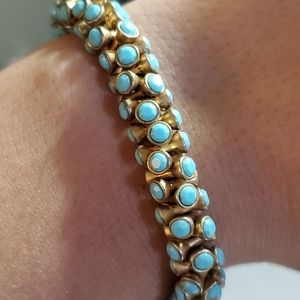 Stella & Dot Stretch Turquoise Beaded Bracelet